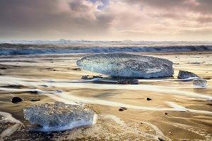 Ice blocks at Diamond beach