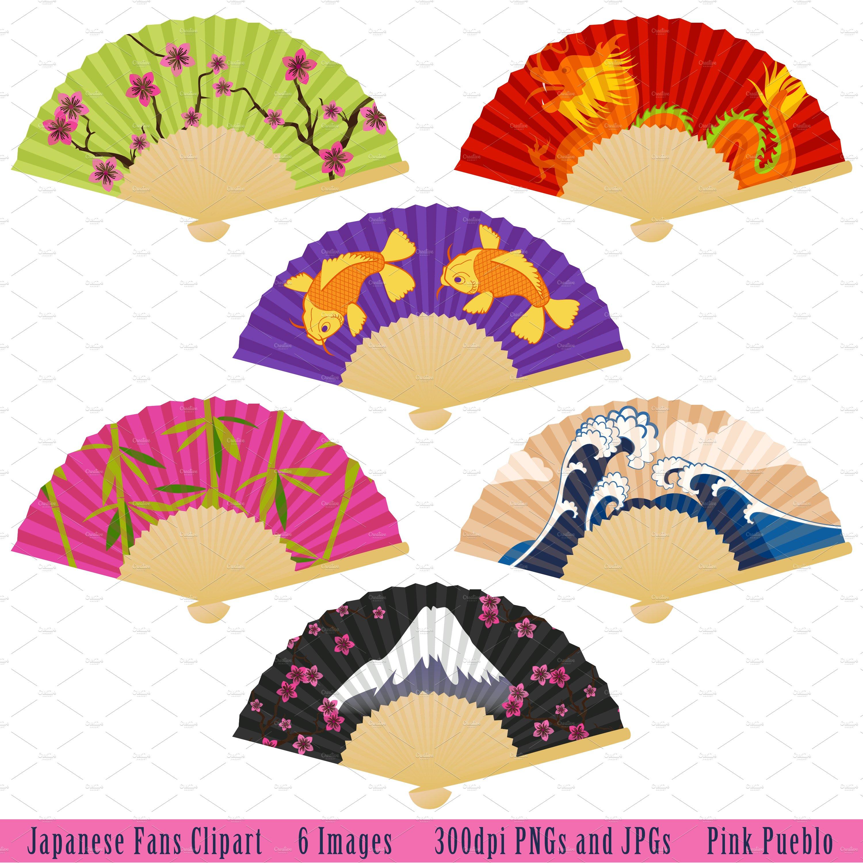 Japanese Fans Vectors and Clipart ~ Illustrations ... (3000 x 3002 Pixel)