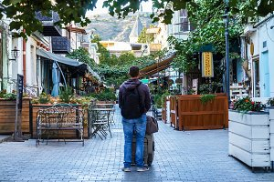 Beautiful and old Tbilisi city in th