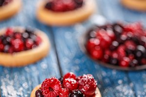 Fresh berry tartlets