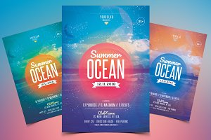 Summer Ocean - PSD Flyer Template