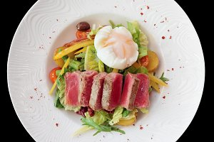 Nicoise salad, isolated