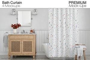 Bath Curtain Mockup Pack
