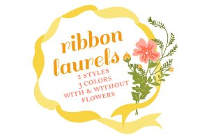 Ribbon Wreaths & Floral Laurels