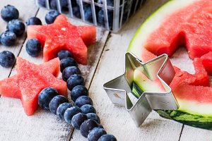 Red White & Blue Watermelon Stars