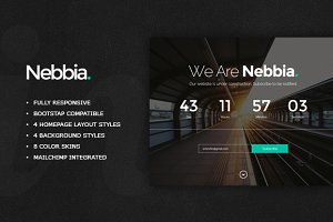 Nebbia - Responsive Coming Soon