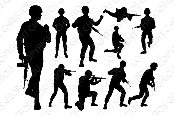 Silhouette Soldiers