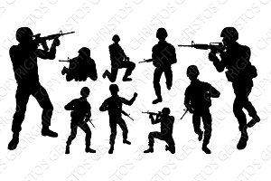 Soldier Detailed Silhouettes