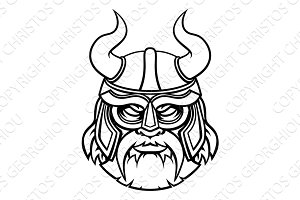 Viking Warrior Sports Mascot Character