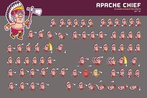 APACHE CHIEF GAME SPRITE