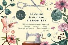 Sewing & floral design set