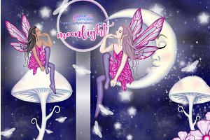 Moonlight clipart collection