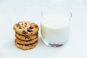 Milk and cookies biscuits