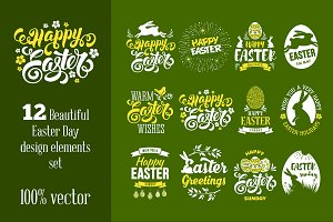 Easter Holiday Badge Set