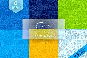 Social Media Line Tile Patterns