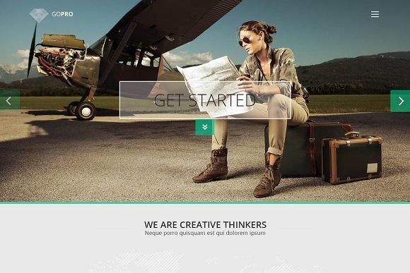 GOPRO Onepage PSD Theme