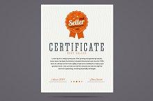 Best seller certificate.