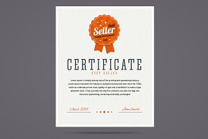 Best seller certificate.