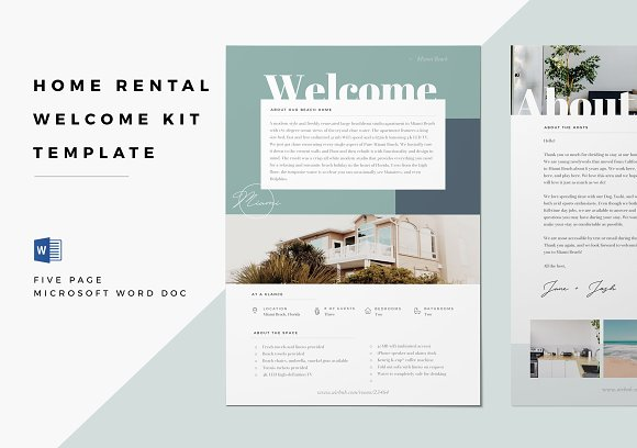 Home Rental Kit Template Word Doc