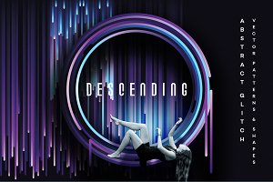 Descending- Glitch design elements