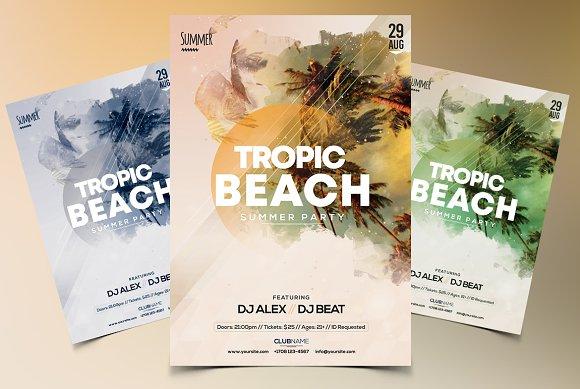 Tropic Beach - PSD Flyer Template