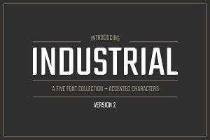 Industrial Font Collection