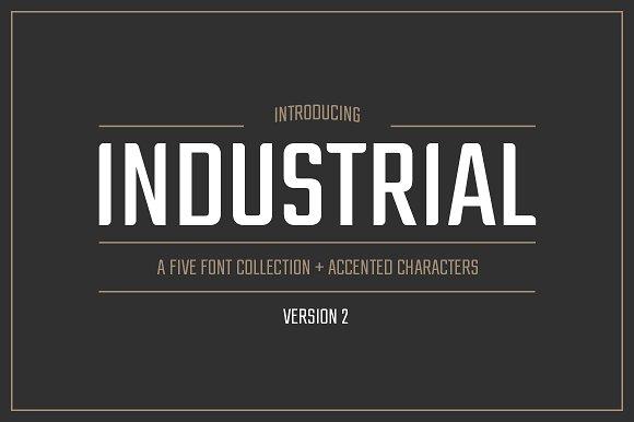Industrial Font Collection Sans Serif Fonts Creative Market