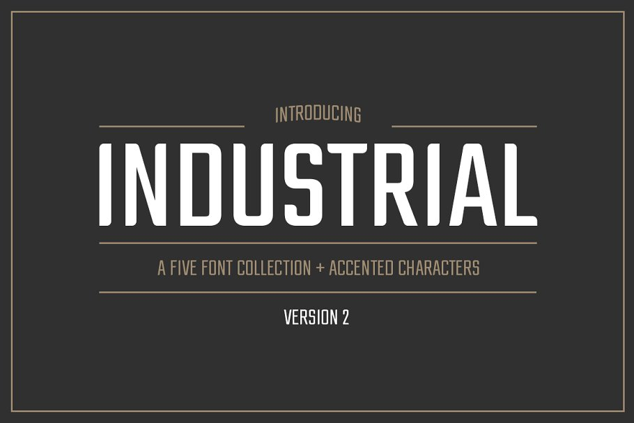 Industrial Font Collection ~ Sans Serif Fonts ~ Creative Market