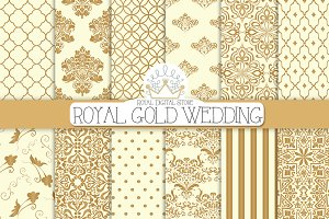 ROYAL GOLD WEDDING digital paper