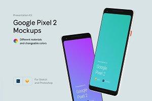 Google Pixel 2 Mockups | Presentatio