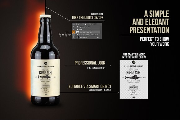 Artisan Beer Bottle Mockup N1943