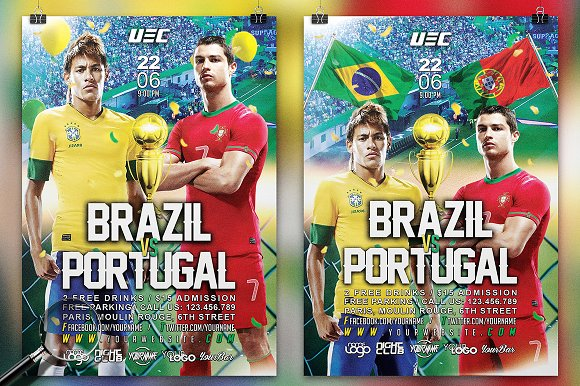 World Soccer Cup 2018   2in1 Flyer