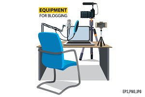 Workplace for Blogger. Equipment