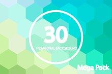 30 Hexagonal Backgrounds . Vol 1,2&3