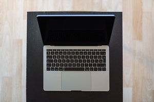 Laptop seen from above