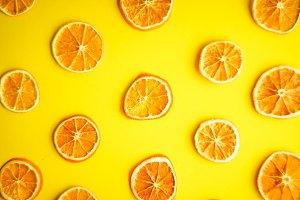 Oranges on flatlay