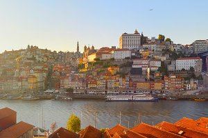 panoramic view of Porto Portugal