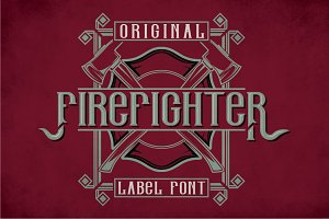 Firefighter Modern Label Typeface