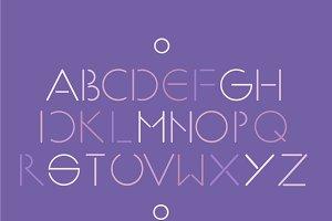 Ultra violet minimalistic font