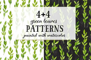 Watercolor Leaves Patterns