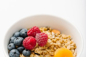 Homemade granola with dried fruit