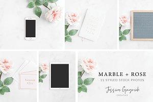 Marble + Rose Styled Stock Bundle