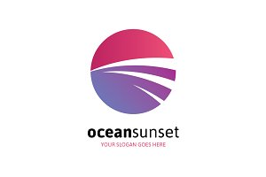 Ocean Sunset Logo