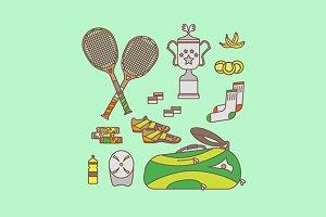 Tennis equipment set