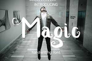 Magic handwritten font
