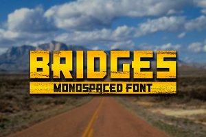 Bridges - Monospaced Outlined Font