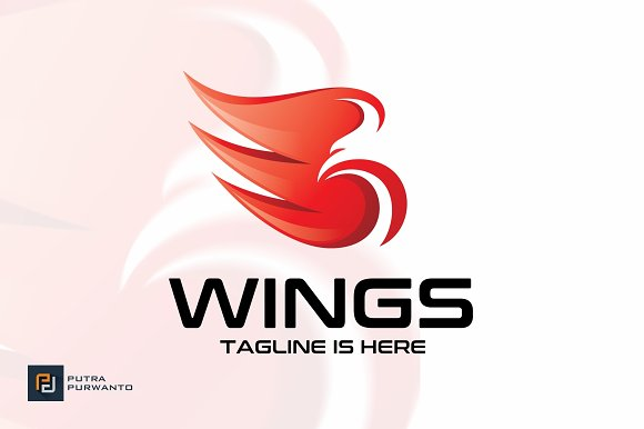 Wings Bird Logo Template