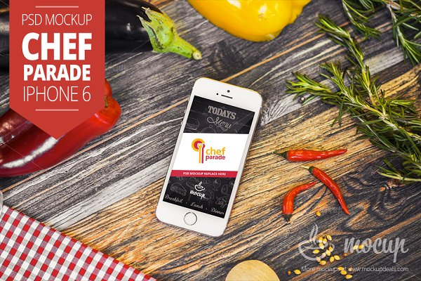 Chef Parade iPhone 5s Mockup