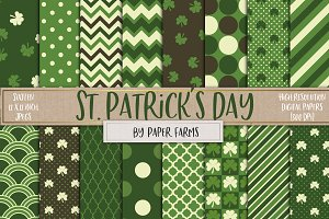 St. Paddy's digital paper