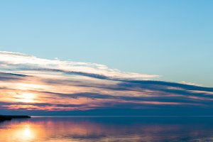 Sunset at Podersdorf, Lake Neusiedl